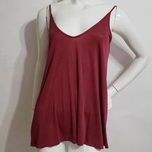 SILENCE +NOISE wine red oversized tank